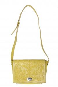 Sacoche en cuir estompé moutarde - ASOS -77€ (£65) © ASOS