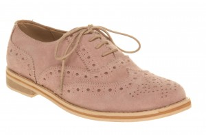 Brogue Reggie en daim rose - Office - 72 €  (62£)  © Office