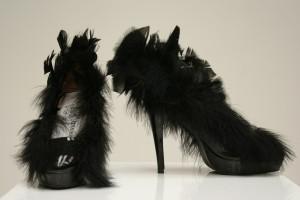 Escarpins à plumes noires - Edward Finney ( non commercialisées)