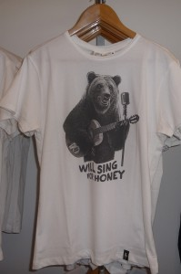 Tee-shirt Will Sing for honey